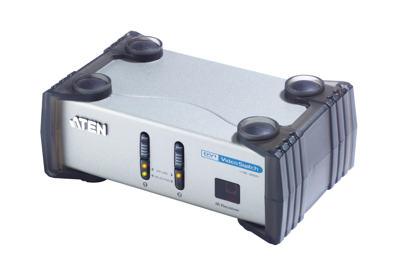 Comutador DVI/Áudio de 2 portas-1