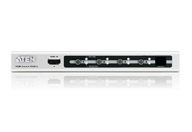 4-Port HDMI Video/Audio Switch with IR Remote and RS-232-3