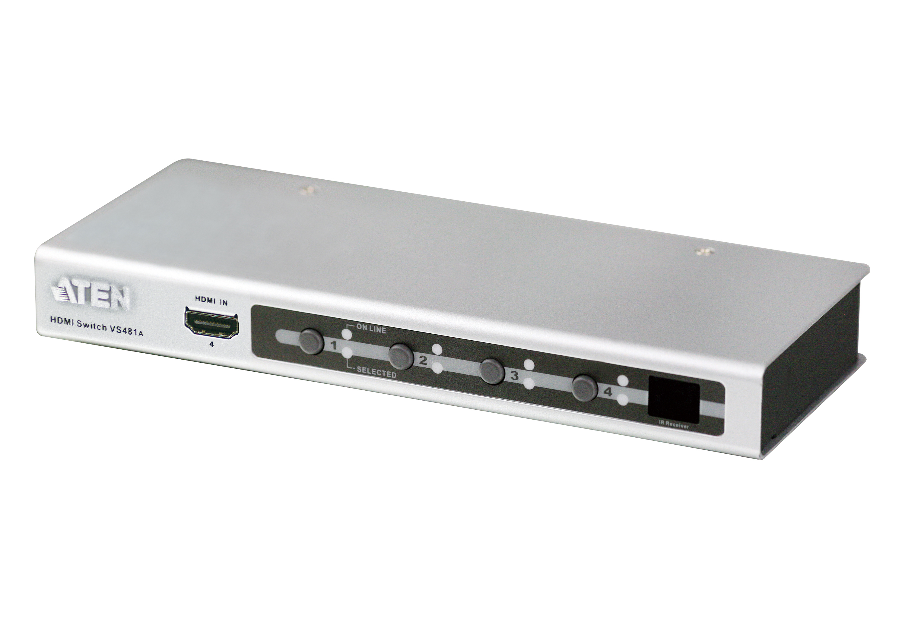4-Port HDMI Video/Audio Switch with IR Remote and RS-232-1