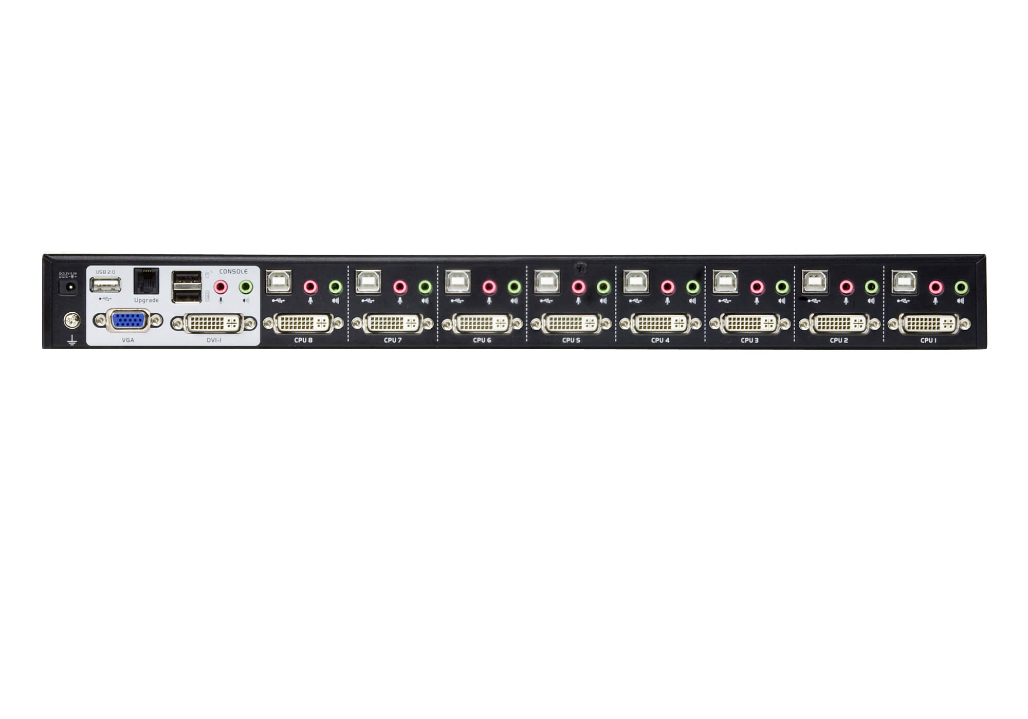 Comutador KVM de 8 portas USB DVI Dual Link/Áudio-2
