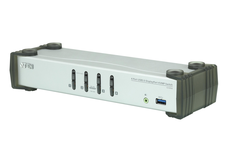 Switch USB 3.0 DisplayPort KVMP™ de 4 Portas (Cabos incluídos)-1