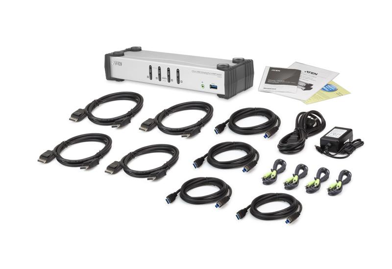 Switch USB 3.0 DisplayPort KVMP™ de 4 Portas (Cabos incluídos)-4