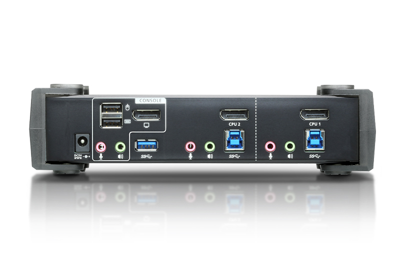 2-Port USB 3.0 4K DisplayPort KVMP™ Switch (Cables included)-2