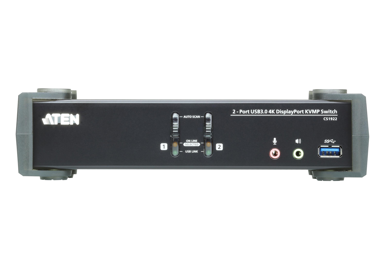Conmutador KVMP™ USB 3.0 4K DisplayPort de 2 puertos (cables incluidos)-3