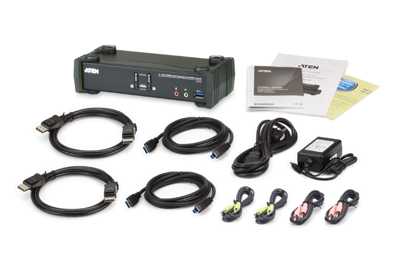 Conmutador KVMP™ USB 3.0 4K DisplayPort de 2 puertos (cables incluidos)-4