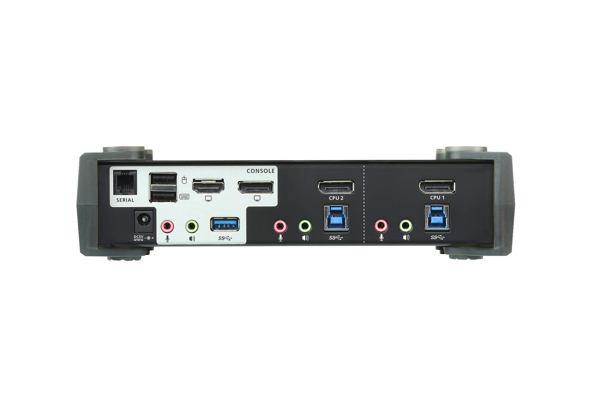 Switch USB 3.0 4K DisplayPort MST KVMP™ de 2 Portas (Cabos incluídos)-3