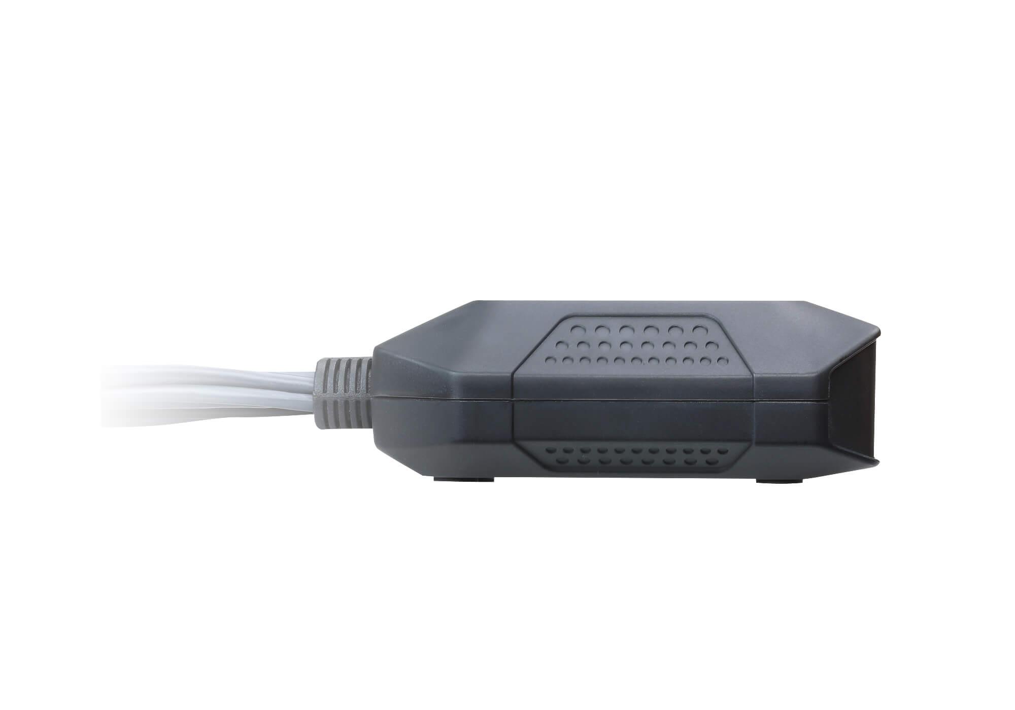 Conmutador KVM DisplayPort USB de 2 puertos con cable y selector de puerto remoto-5