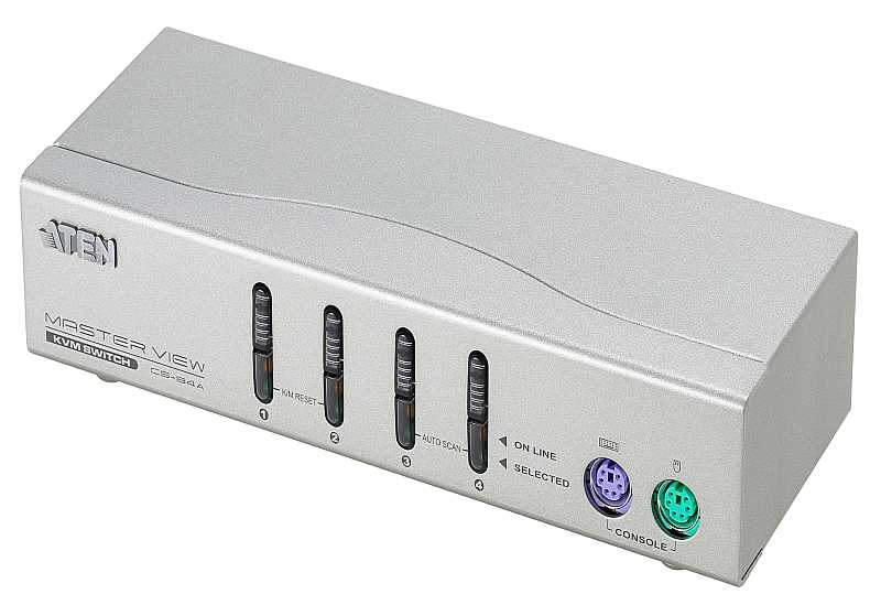 4-Port PS/2 VGA KVM Switch-1