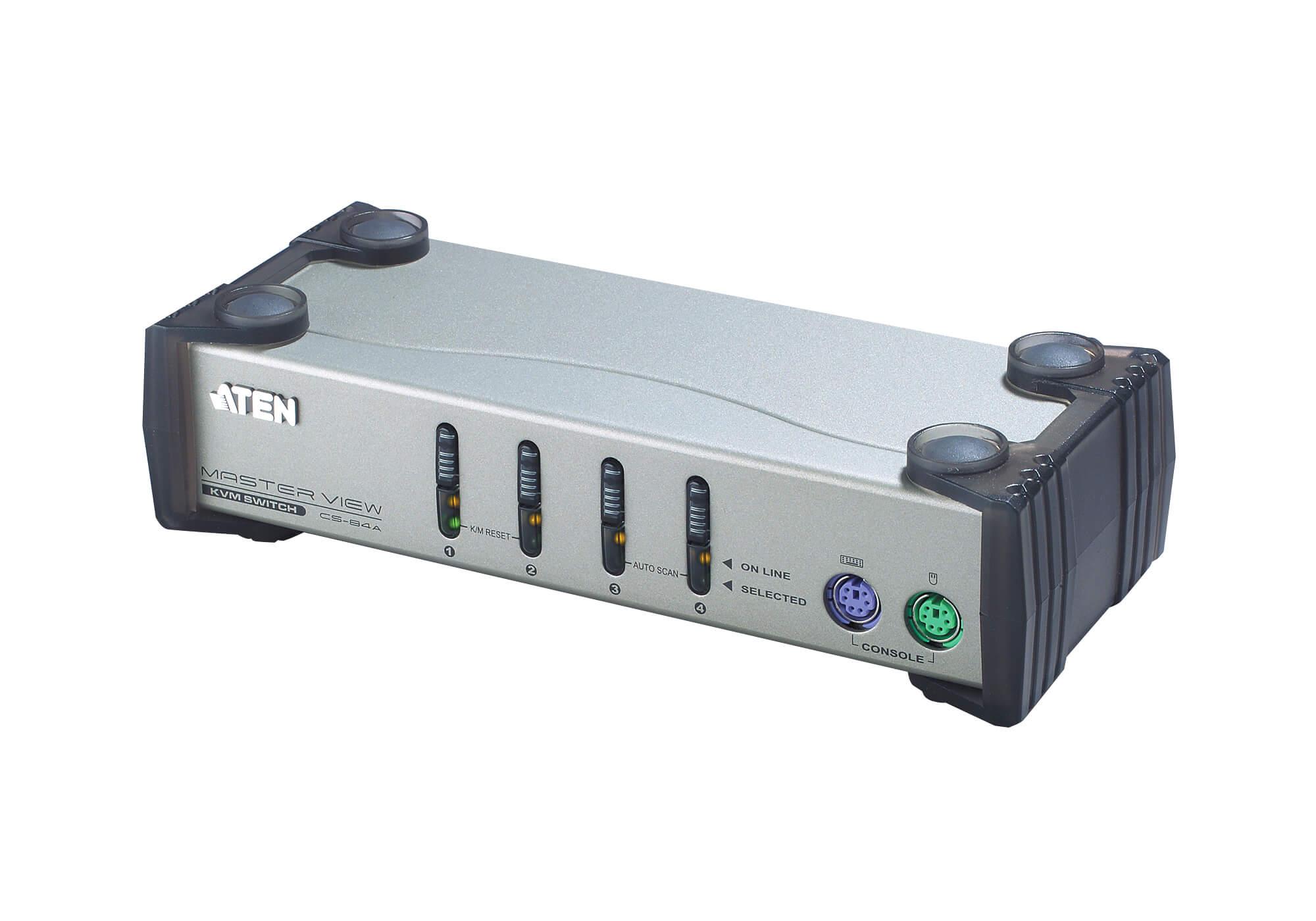 Conmutador KVM VGA PS/2 de 4 puertos-1