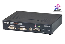 USB DVI-I Dual Display KVM Over IP Transmitter