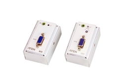VGA/Audio Cat 5 Extender with MK Wall Plate (1280 x 1024 @150 m)