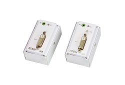 Extensor de DVI/audio Cat 5 con placa de pared MK (1920 x 1200 a 40 m)