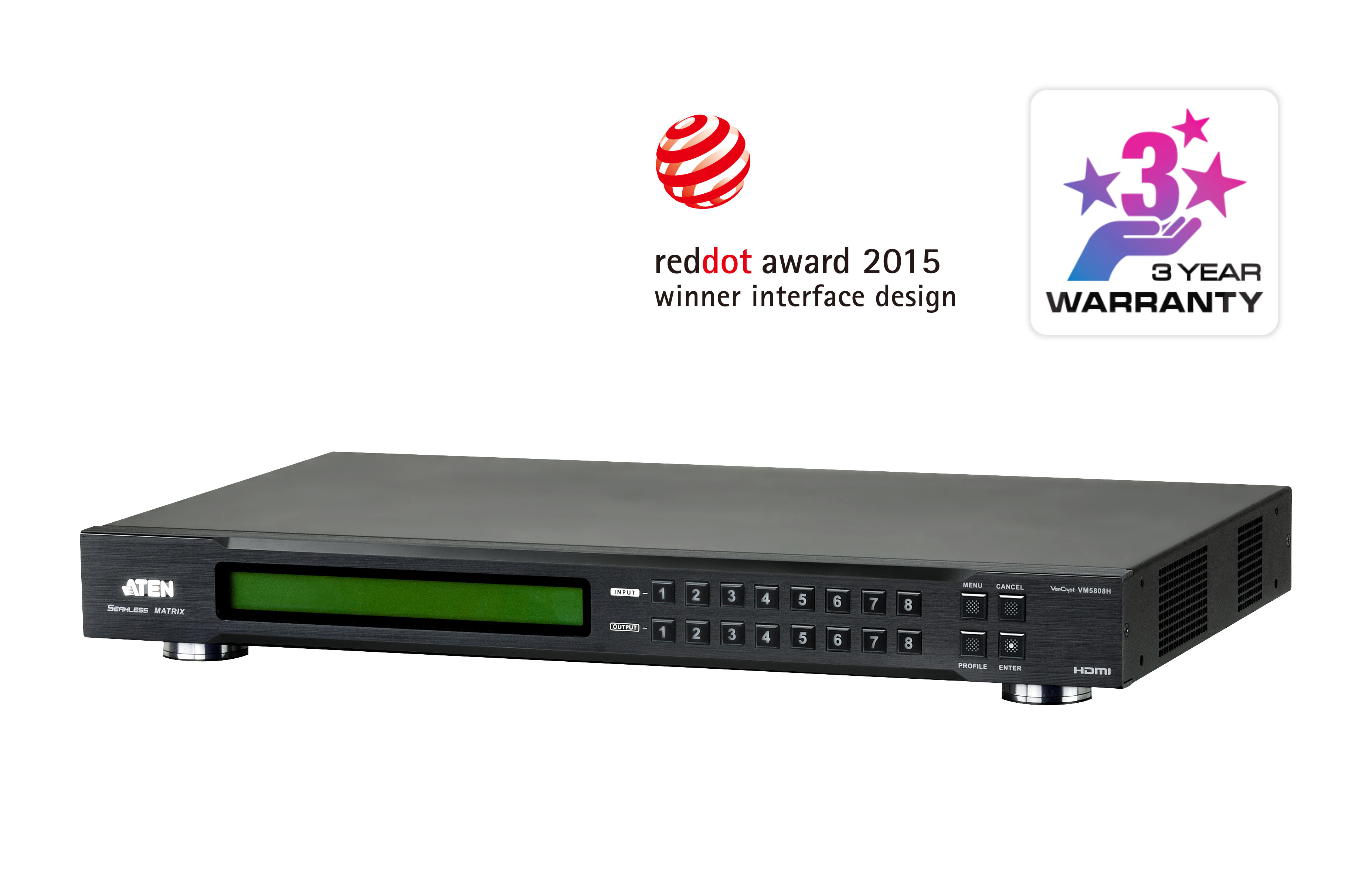 8 x 8 Switch de Matriz HDMI com Videowall & Escala-1