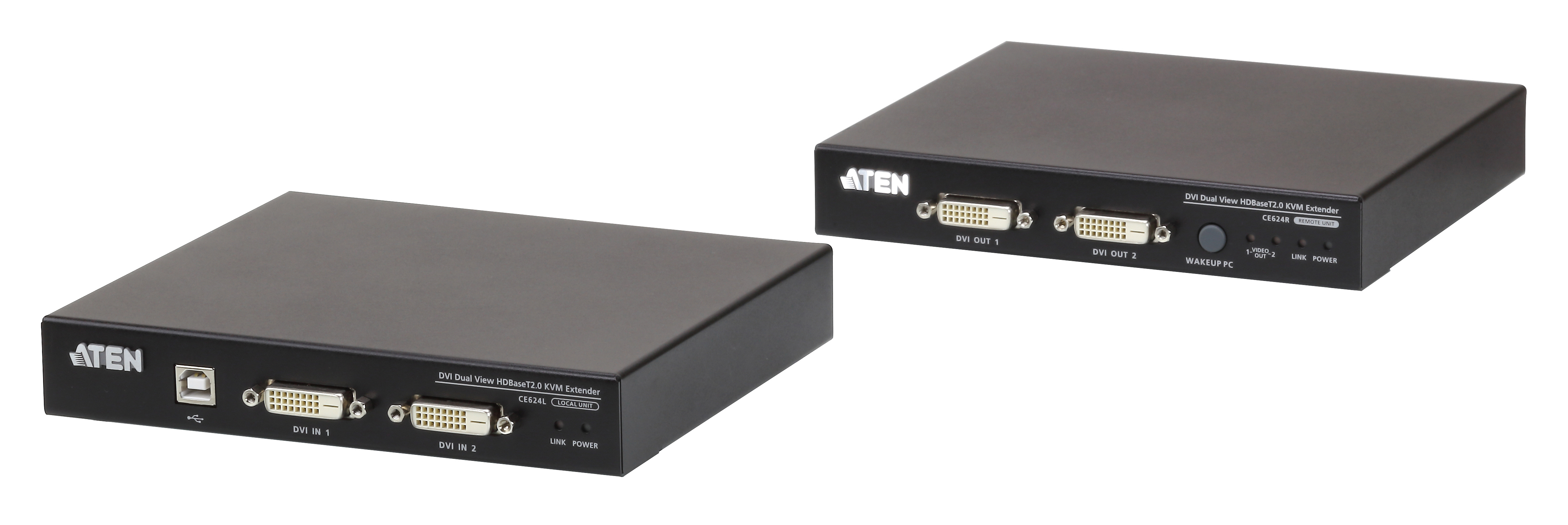 ATEN CE624_Industry's First HDBaseT 2.0 Dual View Extender