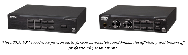 The ATEN UK VP14 series empowers multi-format connectivity and boosts the efficiency and impact of professional presentations