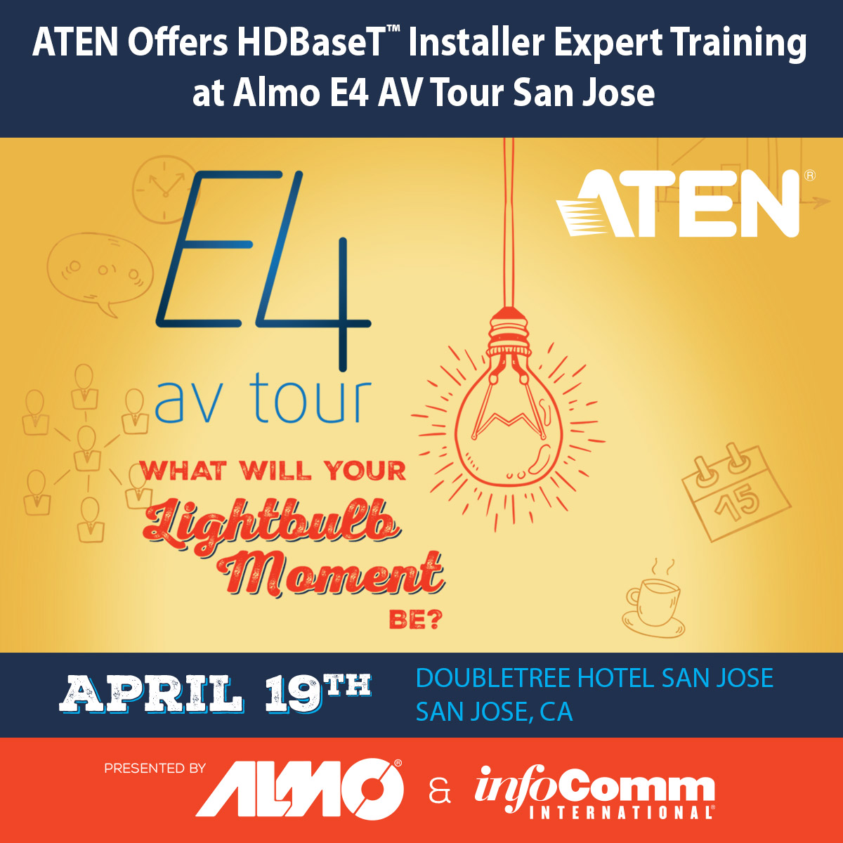 ATEN Offers HDBaseT Installer Expert Training at Almo E4 AV Tour San Jose