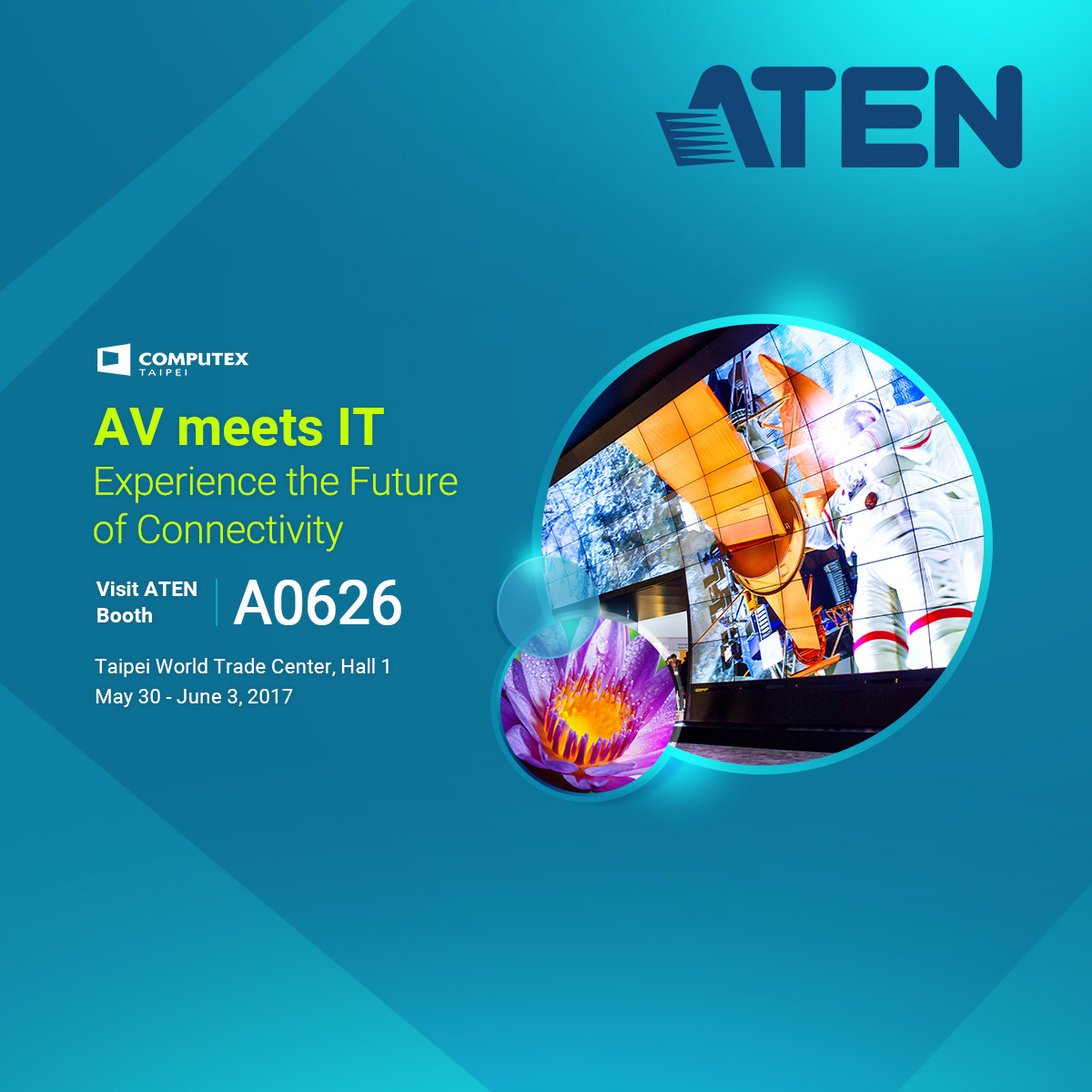 ATEN to show the future of AV meets IT at COMPUTEX 2017