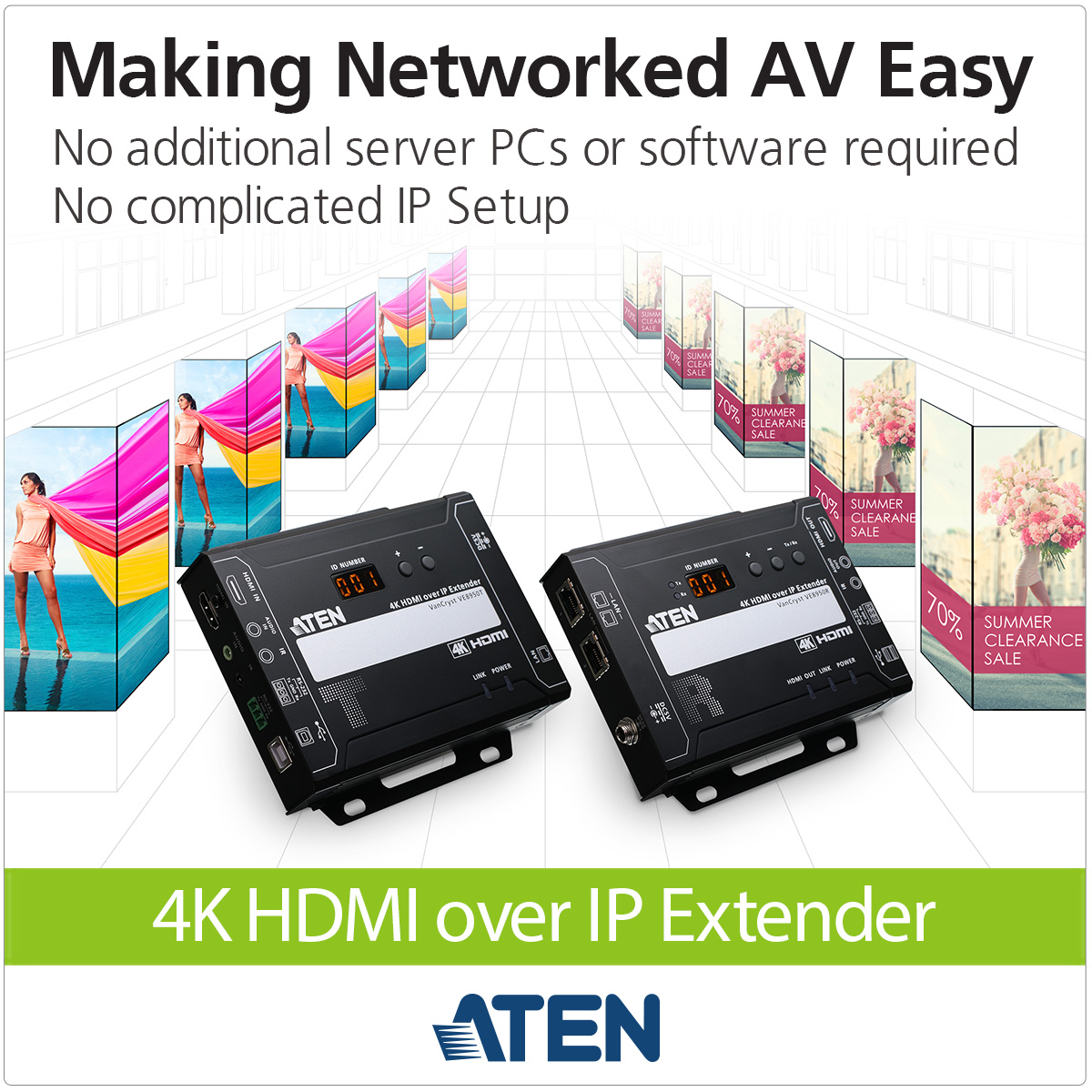 VE8950 4K Video over IP Extender Makes Networked A/V Easy