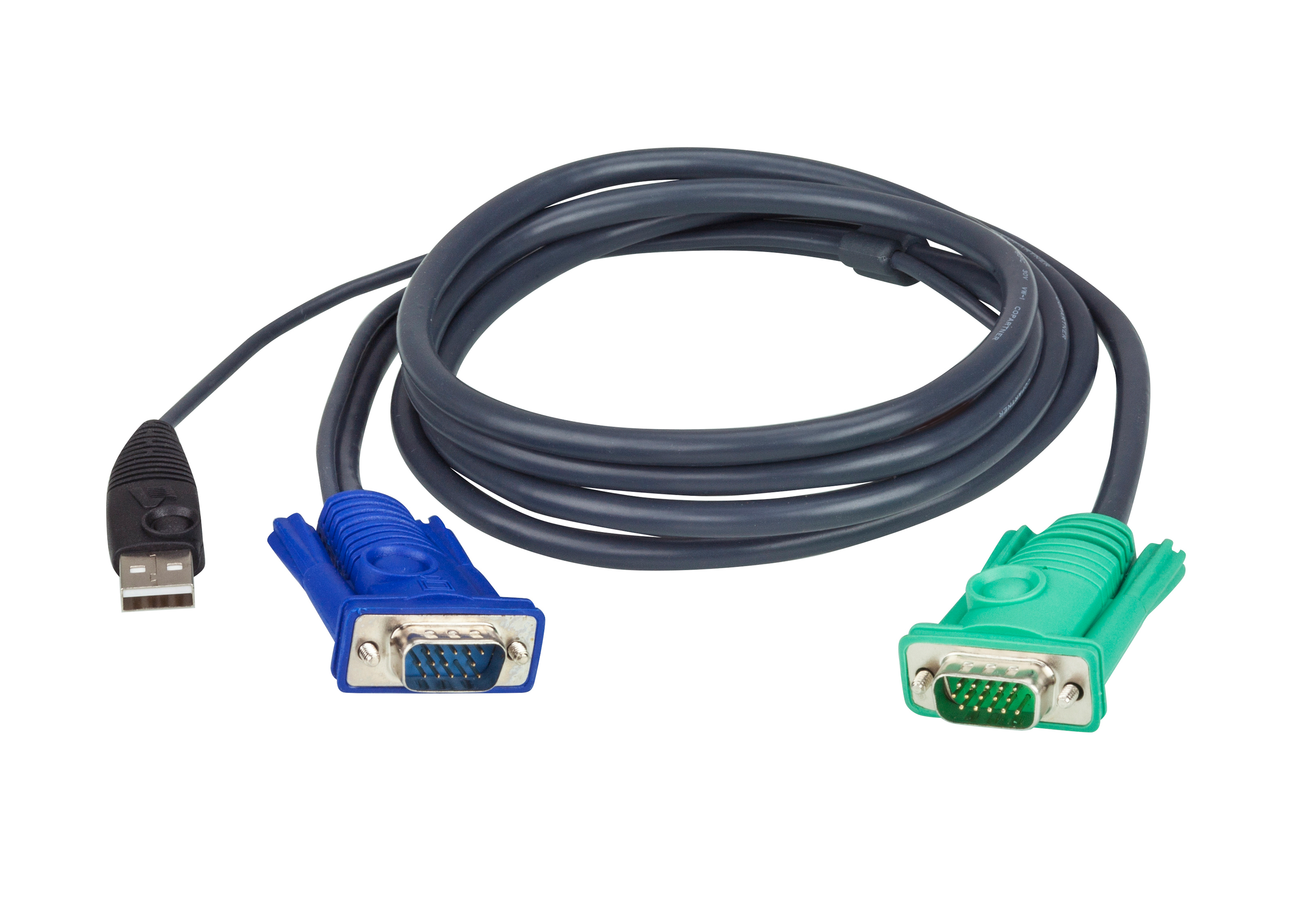 1.2M USB KVM Cable with 3 in 1 SPHD-1