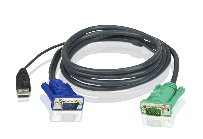 1.8M USB KVM Cable with 3 in 1 SPHD-2