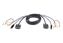 USB-DVI-I-Single-Link-KVM-Kabel, 1,8 m