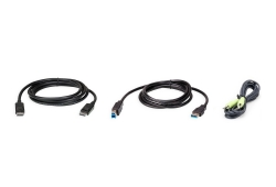 2M USB DisplayPort KVM Cable Kit