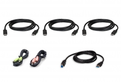 1.8M USB DisplayPort Triple Display KVM Cable Kit