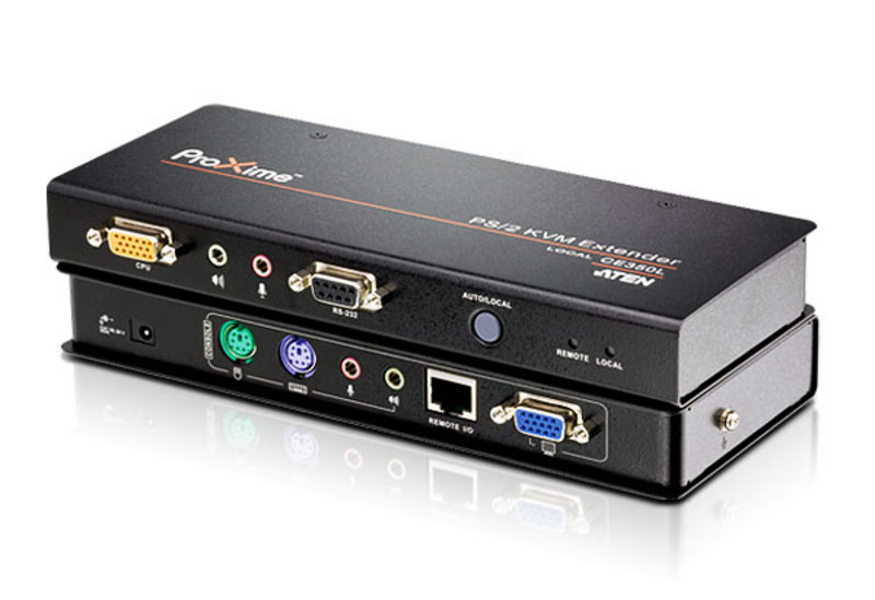 PS/2 VGA/Audio Cat 5 KVM Extender (1600 x 1200@150m)