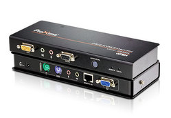 PS/2-VGA/Audio-Cat-5-KVM-Extender (1600 x 1200 bei 150 m)