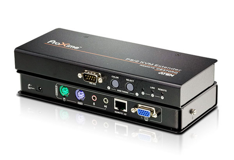 Extension KVM Cat 5 VGA/audio PS/2 avec redressement (1280 x 1024@300m)-1