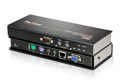 PS/2 VGA/Audio Cat 5 KVM Extender with Deskew (1280 x 1024@300m)