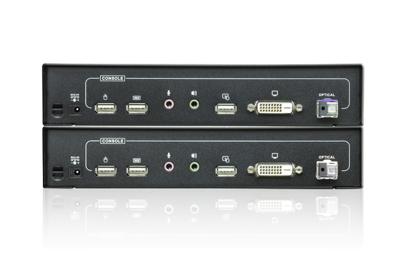 USB DVI Optical KVM Extender (1920 x 1200@20km)-2
