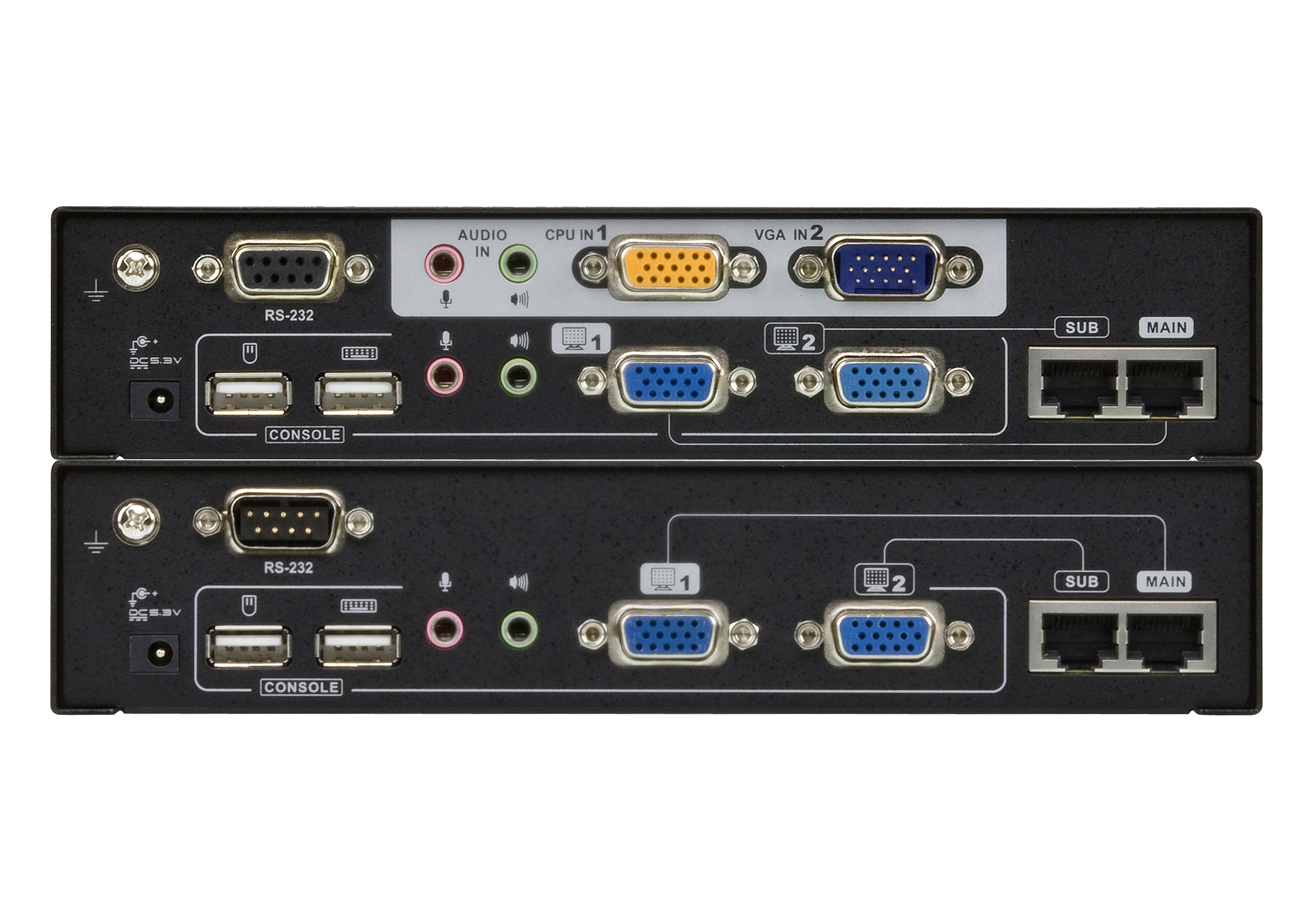 USB VGA Dual View Cat 5 KVM延長器 (1600 x 1200@150公尺)-2