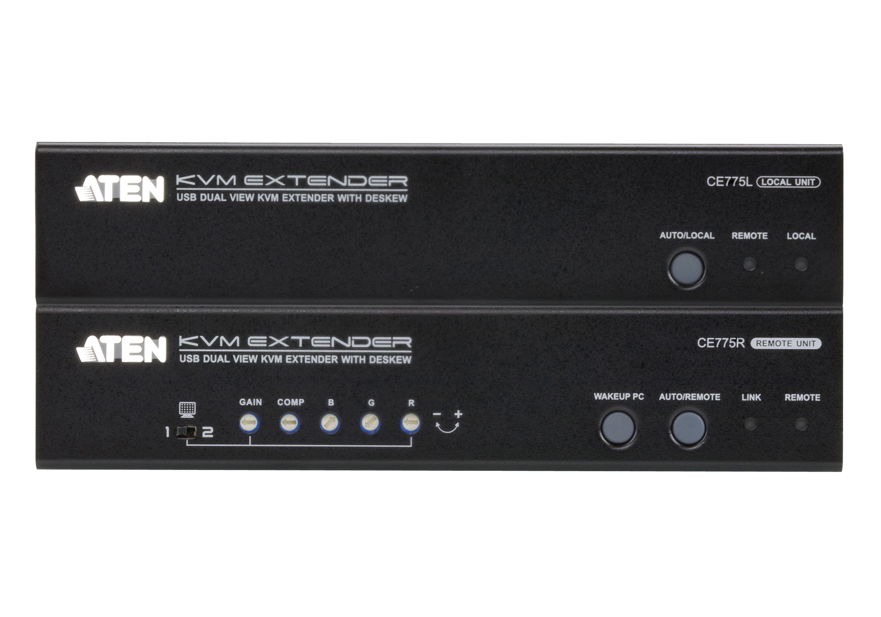 USB VGA Dual View Cat 5 KVM Extender with Deskew (1280 x 1024@300m)-3