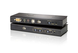 USB-VGA/Audio-Cat-5-KVM-Extender mit USB-Flash-Speicher (1024 x 768 bei 250 m)