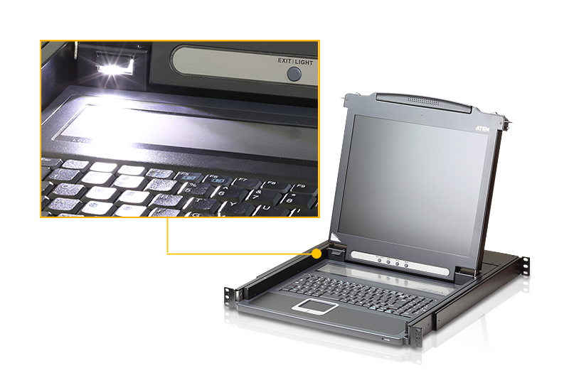 Single Rail LCD Console (PS/2-USB, VGA)-4