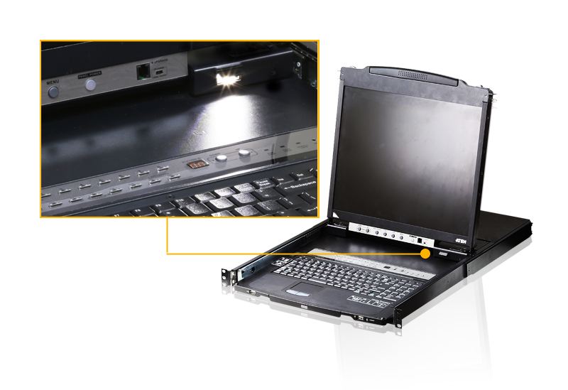 16-Port Dual Rail 19in. LCD KVM-4