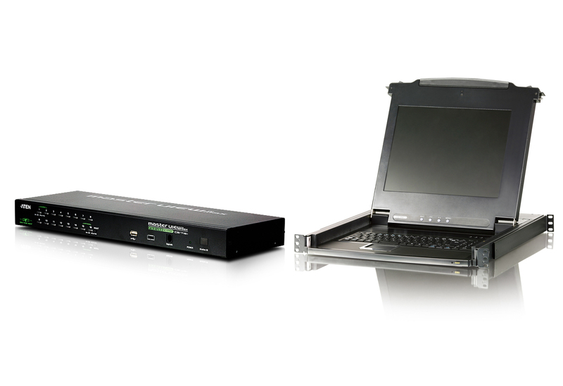 CL1000M(LCD Console) with CS1716i(16-Port IP KVM) Bundle-1