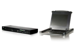 CL1000M(LCD Console) with CS1716i(16-Port IP KVM) Bundle