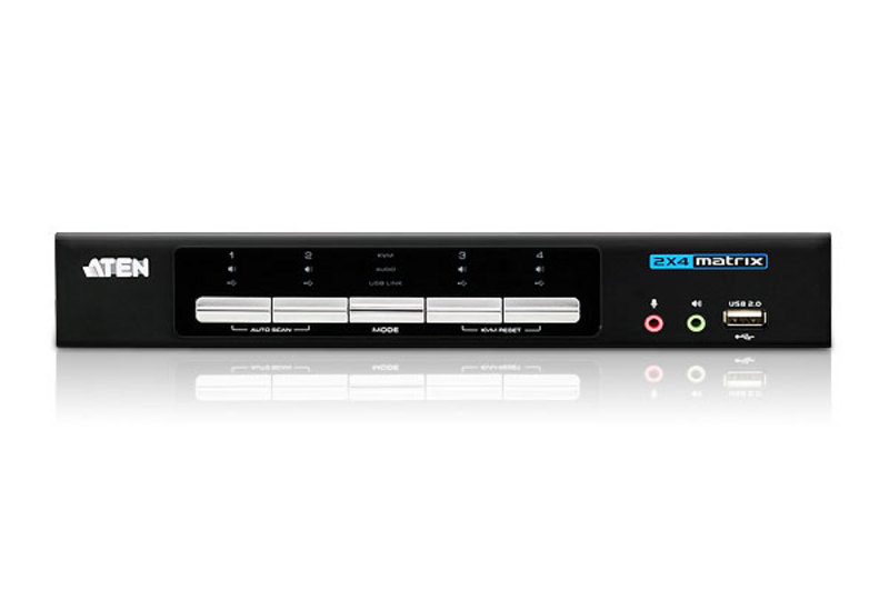 2x4 DVI-HDVideo/Audio Matrix KVMP™ Switch-3