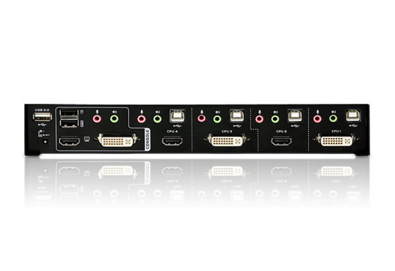 Combo 4 x 2 USB DVI/HDMI KVM + Audio/Video Switch with,USB