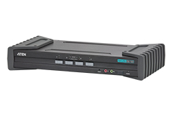 Sicherer 4-Port-USB-DVI-KVM-Switch