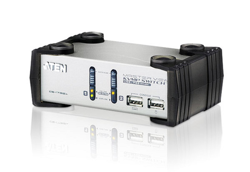PS/2-USB VGA/Audio KVMP™-switch med 2 portar-2