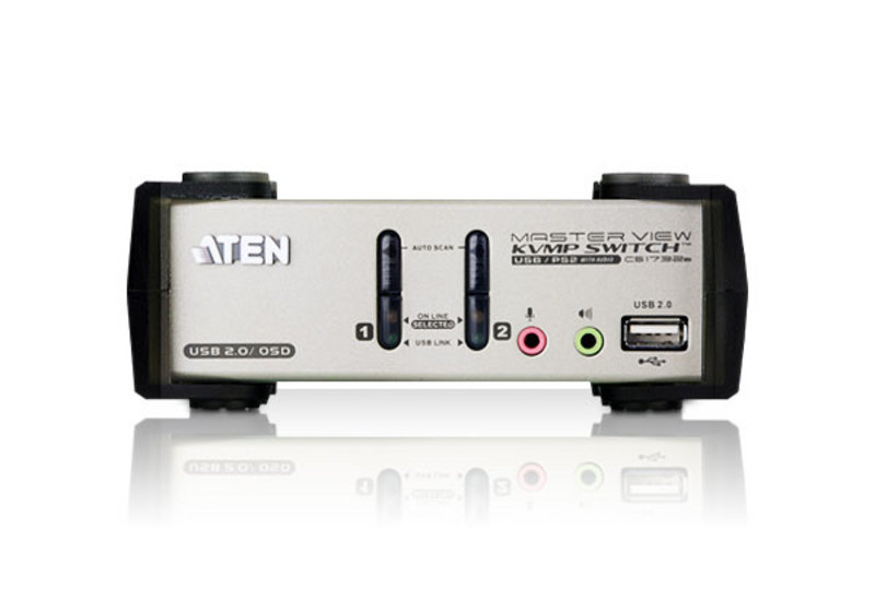 2-Port PS/2-USB VGA/Audio KVMP™ Switch mit OSD-3