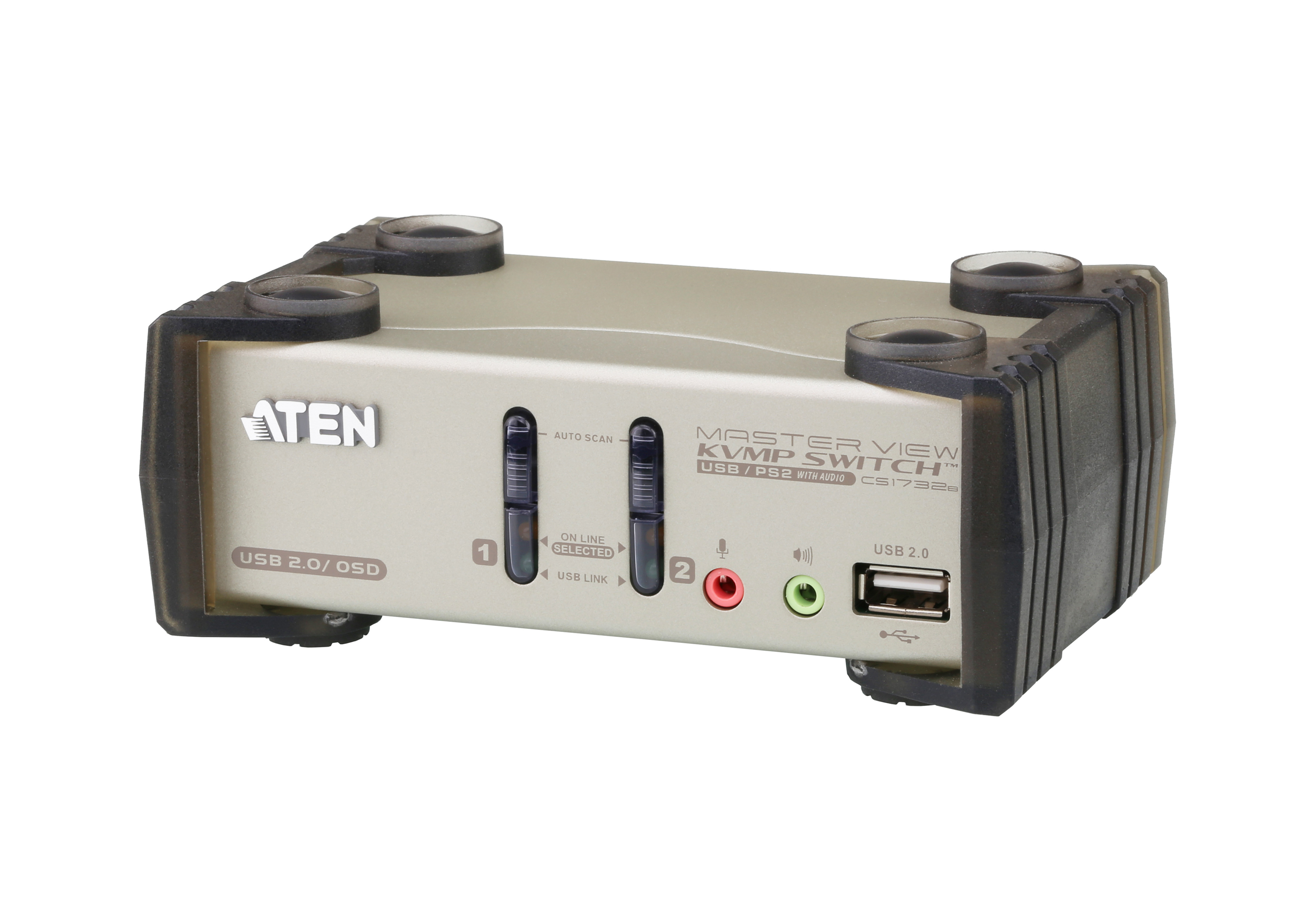 Switch KVMP™ VGA/Audio PS/2-USB de 2 puertos con OSD