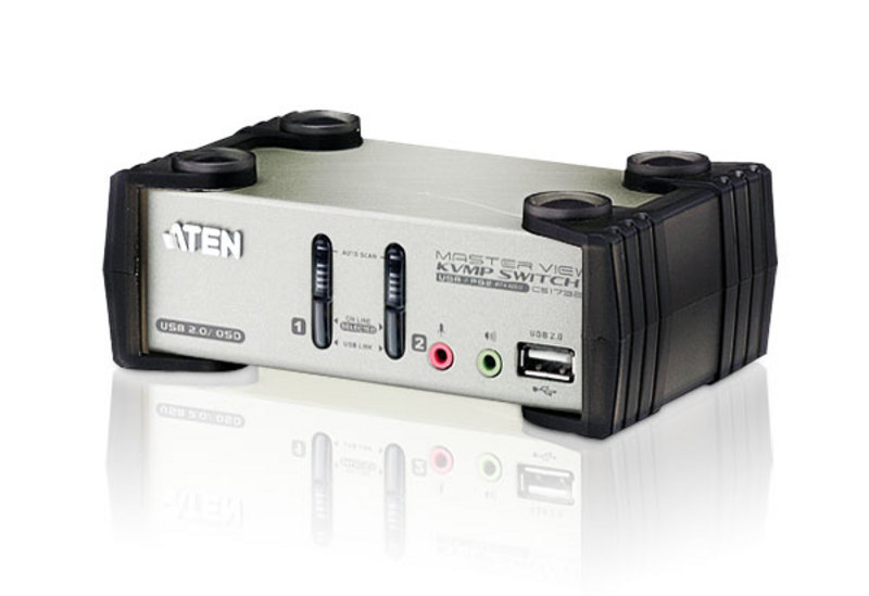 2-Port PS/2-USB VGA/Audio KVMP™ Switch mit OSD-1