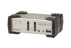 2-Port PS/2-USB VGA/Audio KVMP™ Switch mit OSD