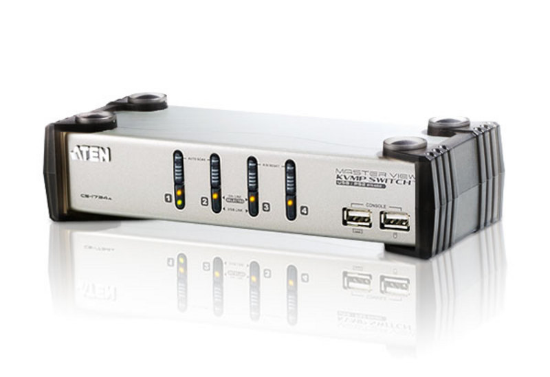 4-Port PS/2-USB VGA/Audio KVMP™ Switch