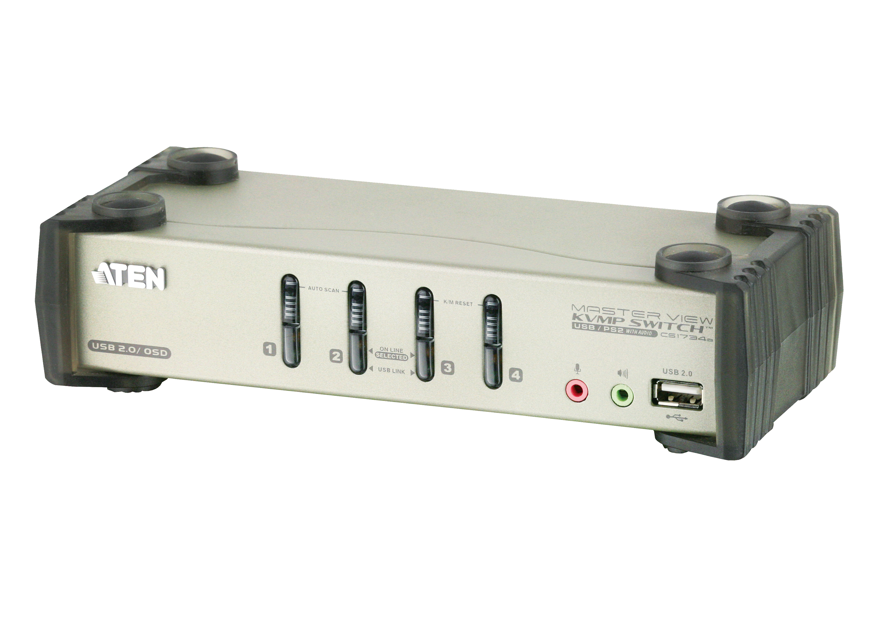 4-Port PS/2-USB VGA/Audio KVMP™ Switch mit OSD-1