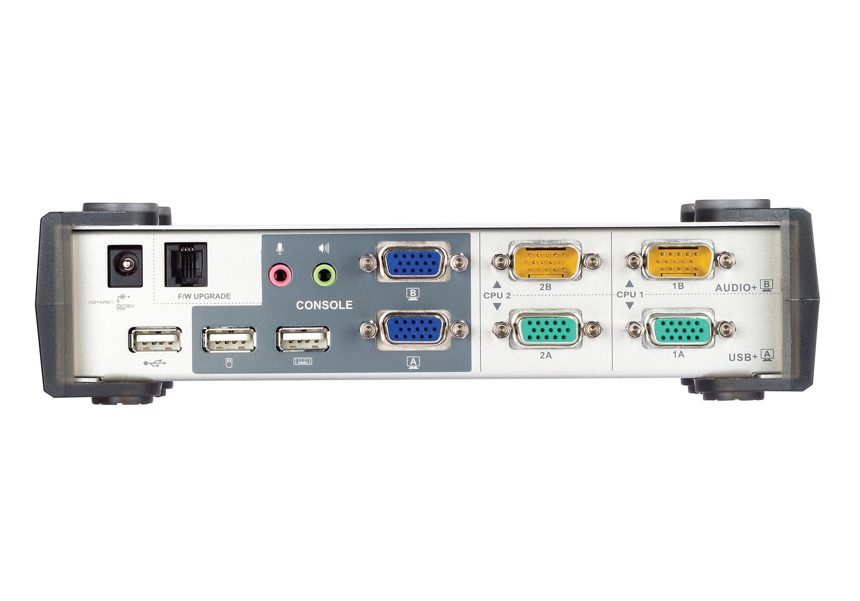 2-Port USB VGA Dual Display/Audio KVMP™ Switch - CS1742